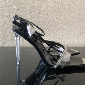 Fashion Nova Sparkle Heel Sandal